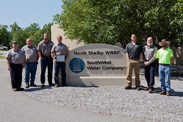 North Shelby: L-R: Dave McCombs – Wastewater Operator, Richard Burnett – Technician, Justin Tripp – Wastewater Operator, Barry Givens – Plant Manager, Ryan Weldon – District Manager, Scott Elrod – Wastewater Operator and CJ Knight – Wastewater Operator