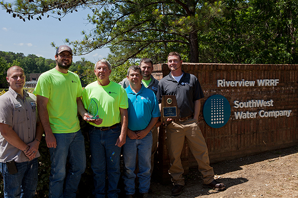 Riverview: L-R: Branden Coomer - Technician, Mark Globetti – Wastewater Operator, Terry Johnson – Wastewater Operator, Loren Gilliland – Technician, Ronnie Howard – Technician and Ryan Weldon – District Manager